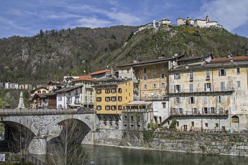 Varallo Sesia immagini stock libere da diritti