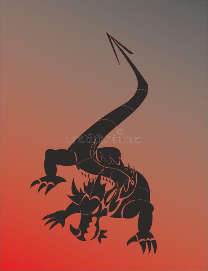 Varan o dragão vermelho ilustração royalty free