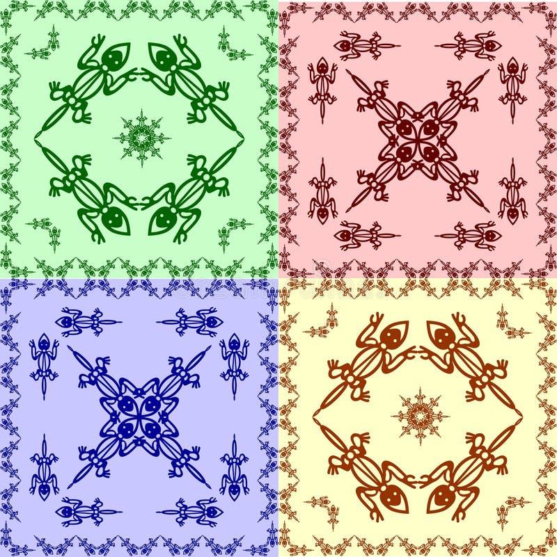 Download Varan tracery stock vector. Image of ethnic, reptilian - 15972929