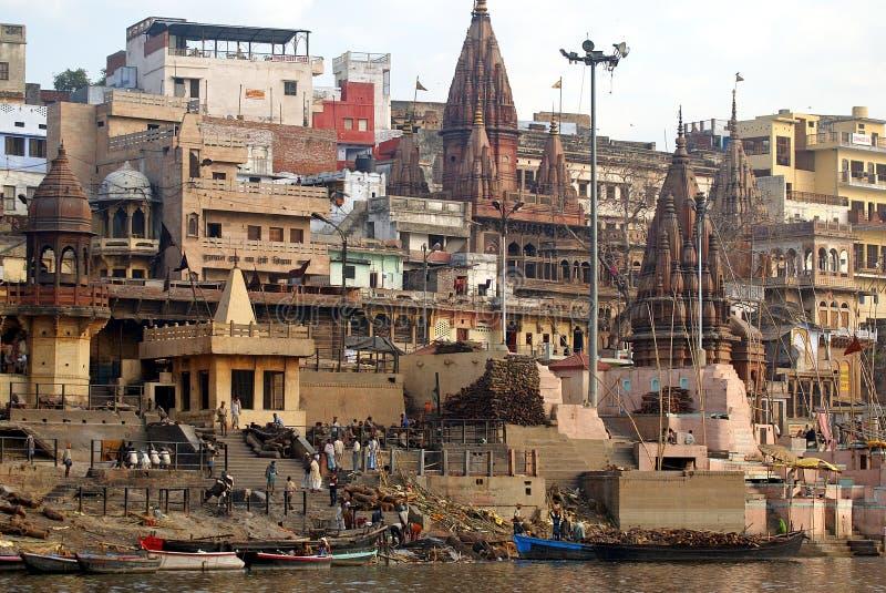 Download Varanasi cremation ghat editorial image. Image of tourism - 18878370