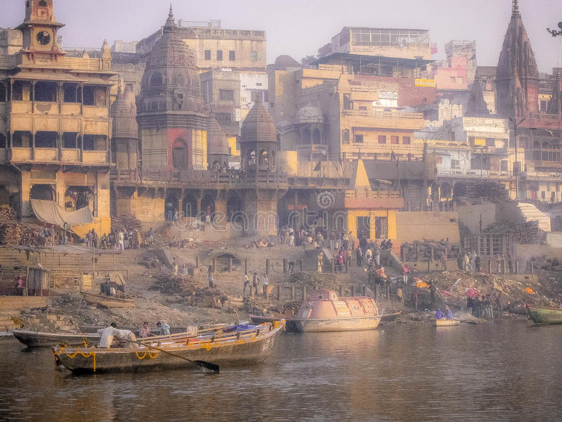 Varanasi, der Ganges, Indien stockfoto