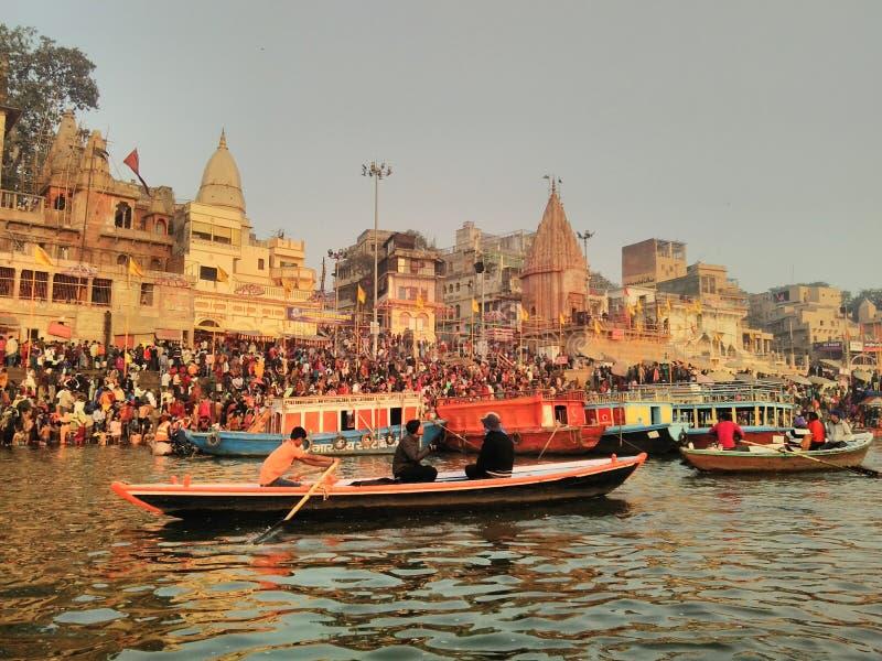 Varanasi ghaat στοκ εικόνες
