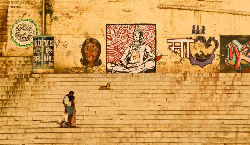 Varanasi Ghats foto de archivo