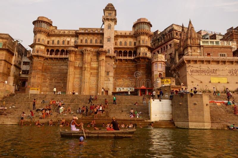 Varanasi Ghats royalty-vrije stock afbeeldingen