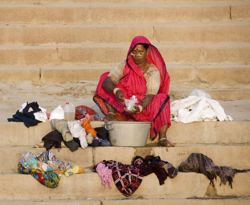 Varanasi - Hindu Ghats - India stock photos