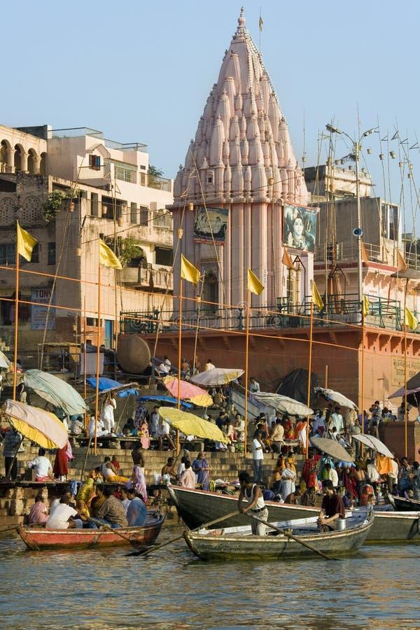 Varanasi Hindu Ghats - India royalty free stock images