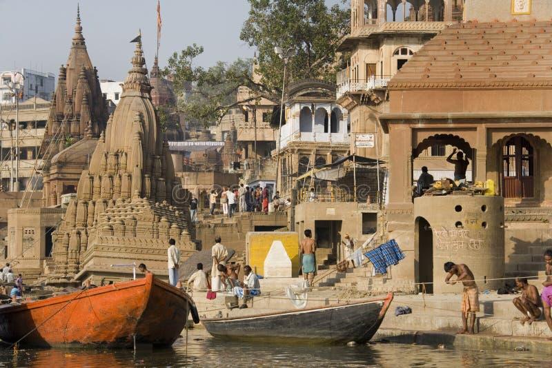 Varanasi Hindu Ghats - India royalty free stock photo