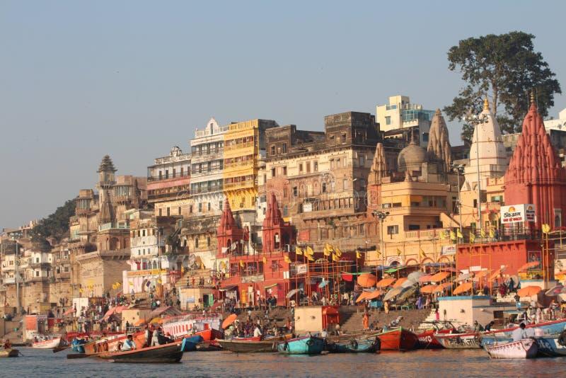 Varanasi, India. Varanasi , also known as, Benares, Banaras or Kashi is an Indian city on the banks of the Ganga in Uttar Pradesh, 320 kilometres (200 mi) south royalty free stock photo