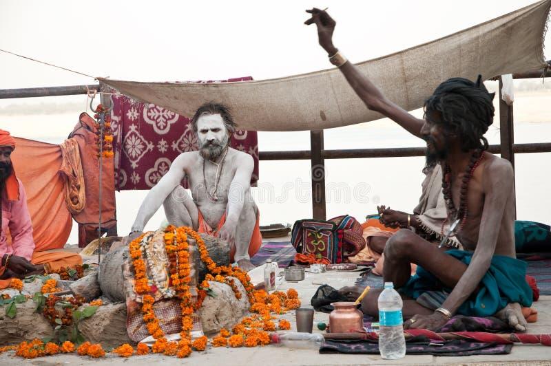 Het gebedrituelen van Lord Shiva stock fotografie