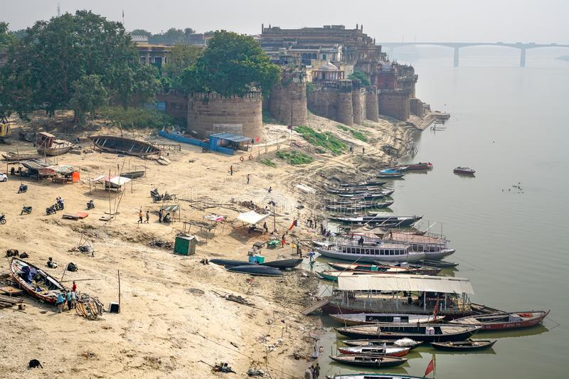 Varanasi/India-13.07.2019:The Ramnagar Fort in Varanasi. The photo was taken during my one year trip around Asia royalty free stock image