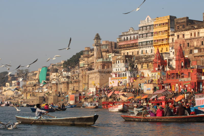 Varanasi, Indien lizenzfreie stockfotos