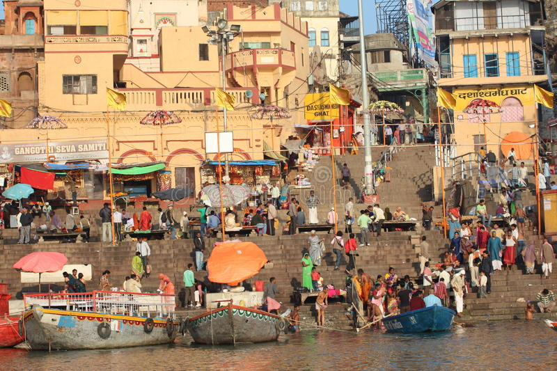 Varanasi, Indien stockfotos