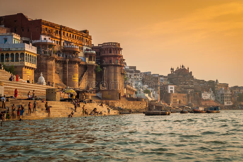 Varanasi Morning stock image