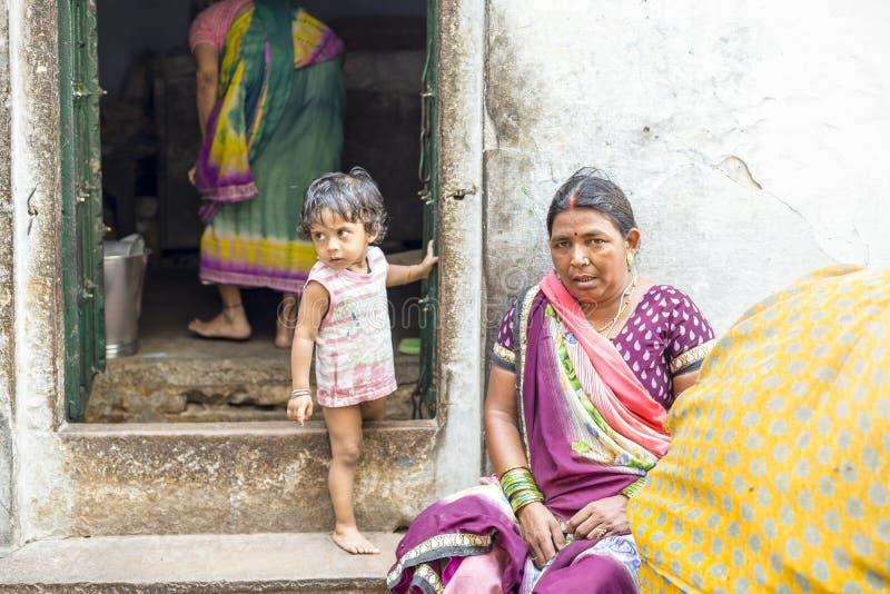 Varanasi streets, India stock image