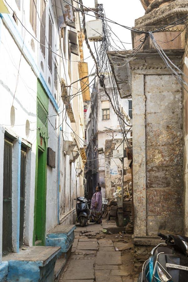 Varanasi ulicy, India obrazy stock