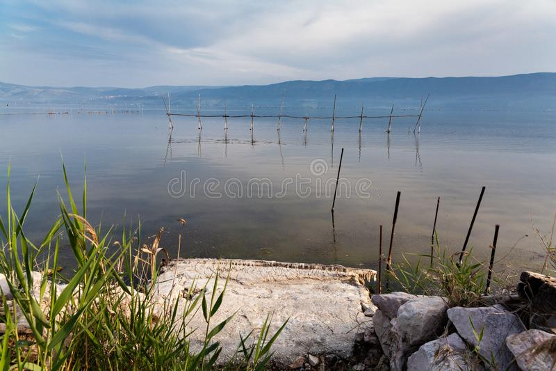 Varano See Puglia Gargano Italien stockfotografie