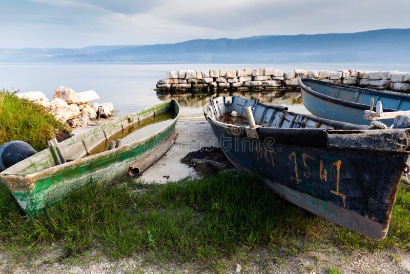 Varano See Puglia Gargano Italien lizenzfreie stockbilder