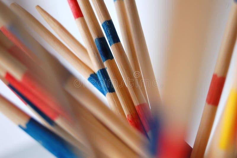 Varas coloridas de Mikado imagem de stock royalty free
