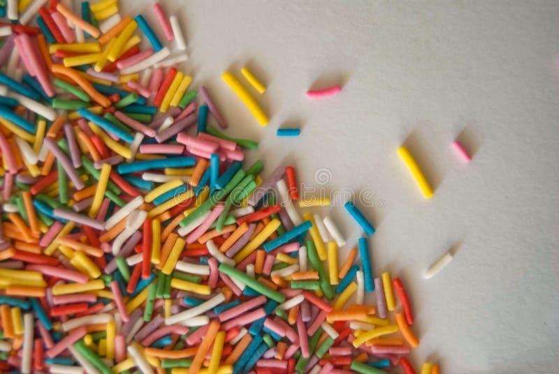 Varas coloridos dos confeitos fotos de stock