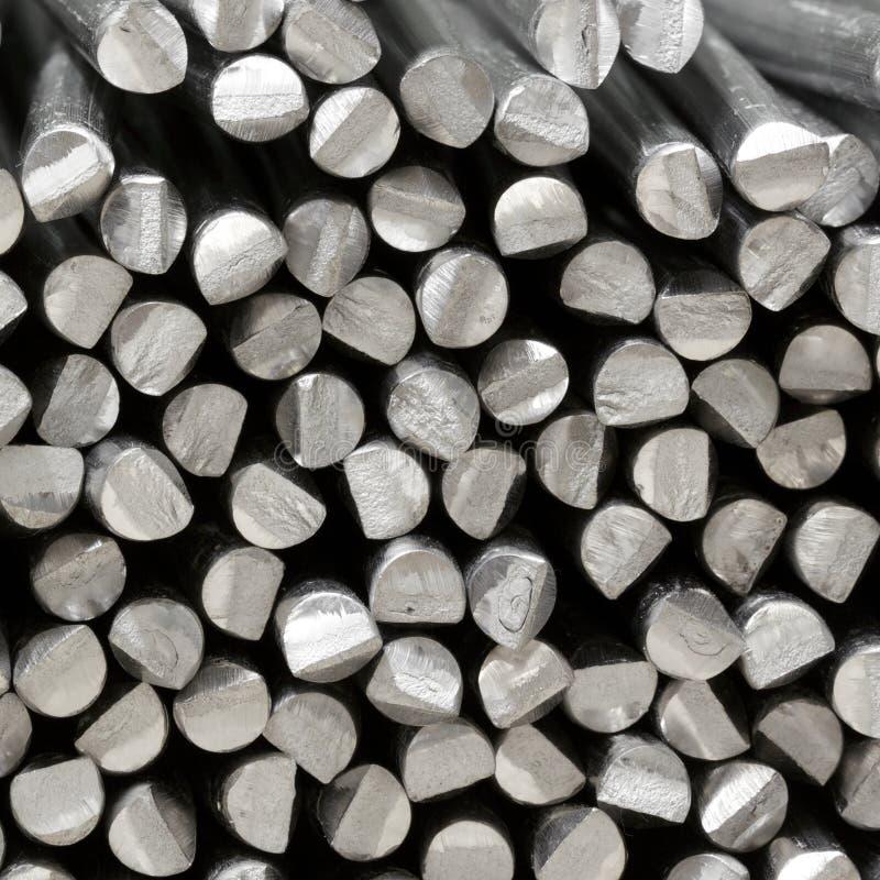 Varas cruas de alumínio foto de stock royalty free