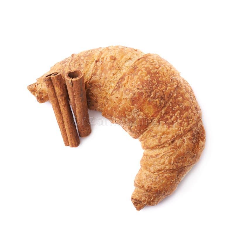 Varas da pastelaria e de canela do croissant imagem de stock