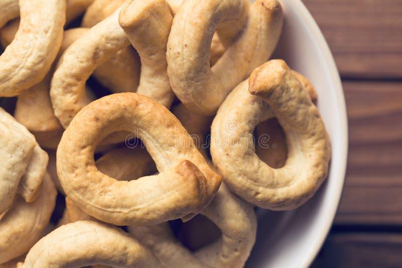 Varas de pão de Tarallini imagens de stock