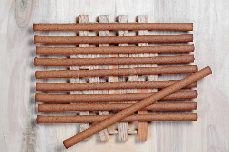 Varas de pão saborosos do centeio fotografia de stock