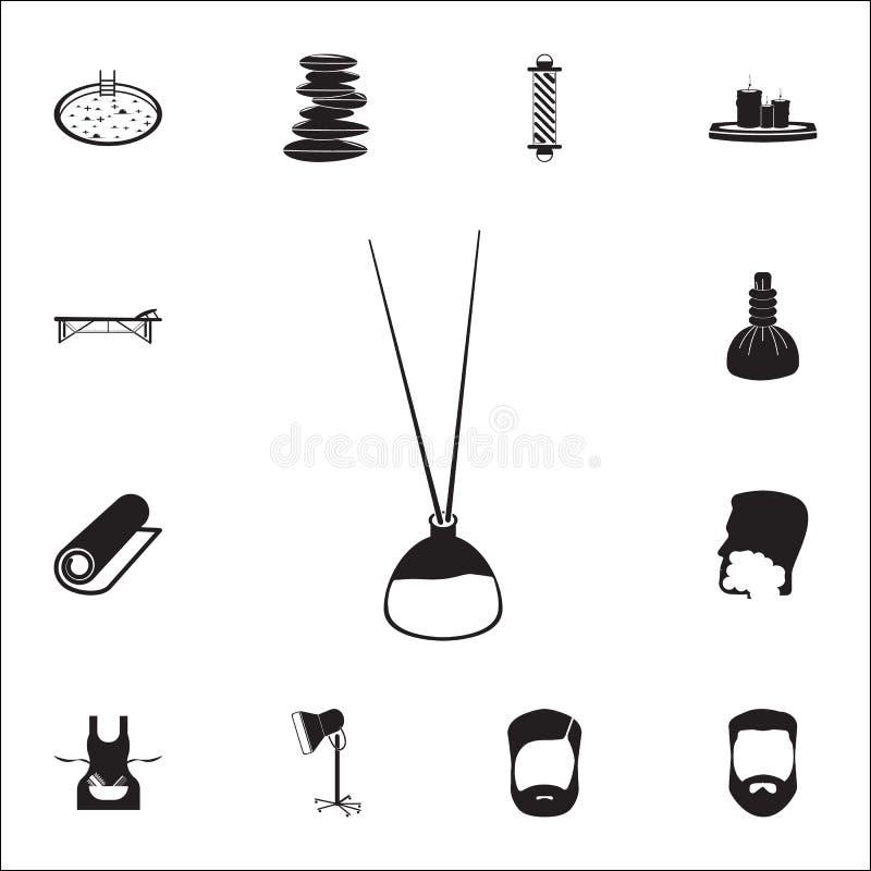 Varas do aroma no ícone da garrafa Grupo detalhado de ícones do barbeiro Sinal superior do projeto gráfico da qualidade Um dos íc ilustração stock
