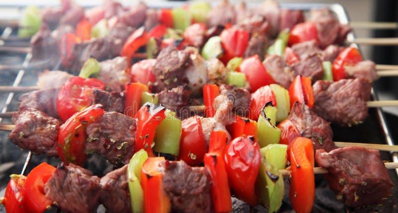 Varas do BBQ imagem de stock