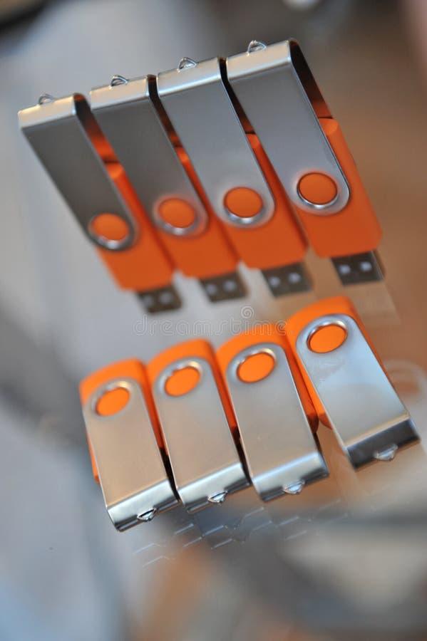 Varas do USB imagem de stock