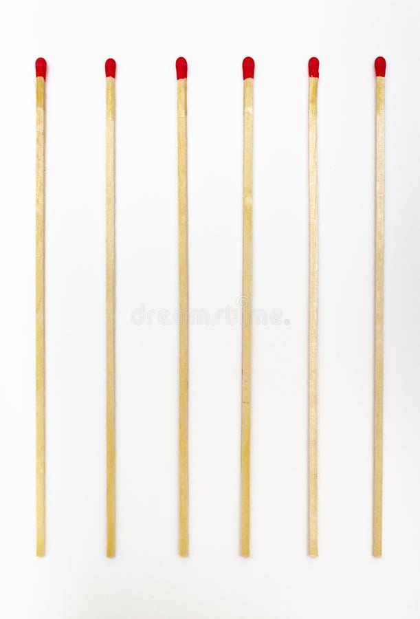Varas dos fósforos para iluminar um fogo fotos de stock royalty free