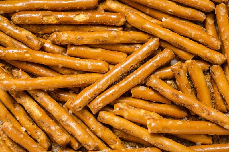 Varas salgados do pretzel fotos de stock