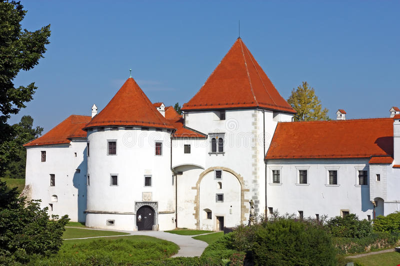 Varazdin castle. In the Old Town, originally built in the 13th century royalty free stock photos