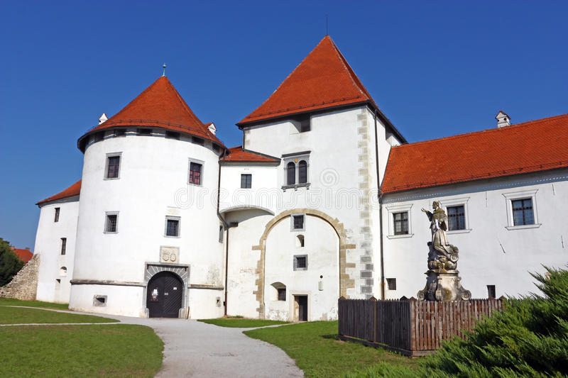 Varazdin castle. In the Old Town, originally built in the 13th century royalty free stock photography