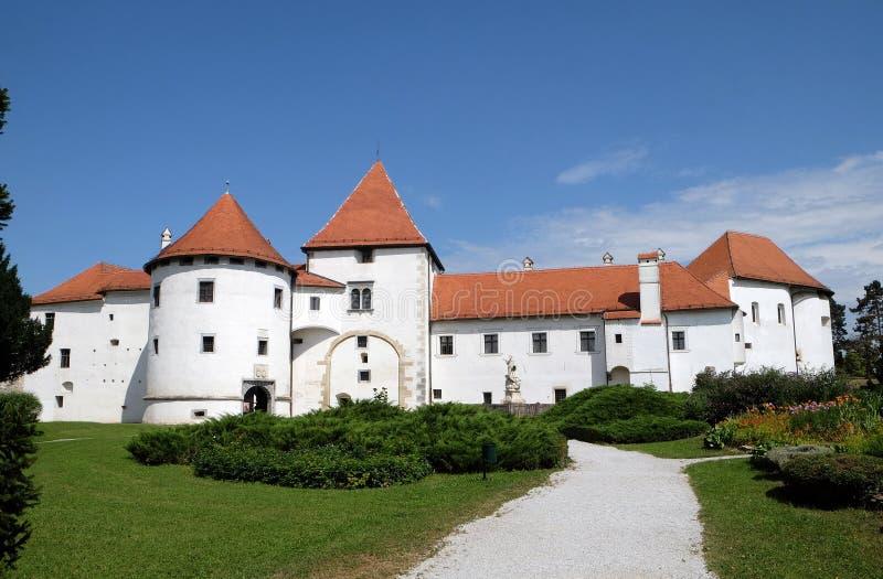 Varazdin, Croatia. Varazdin castle in the Old Town, originally built in the 13th century in Varazdin, Croatia stock images