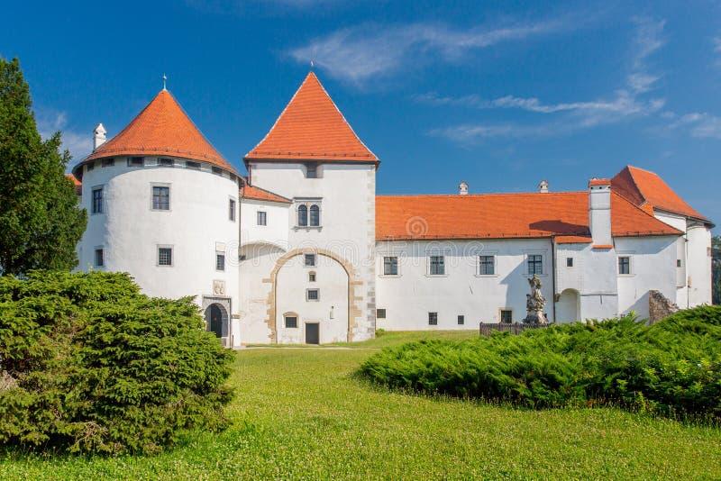Varazdin-Schloss, Kroatien stockbild