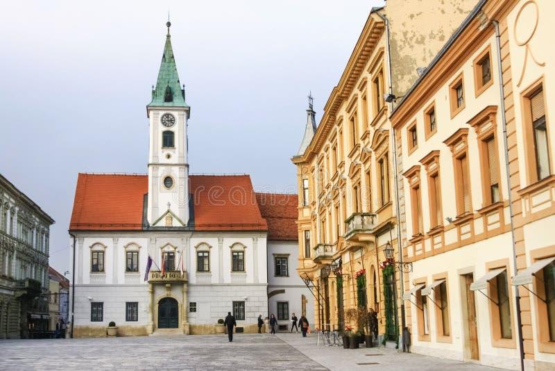 Varazdins Rathaus lizenzfreie stockfotografie