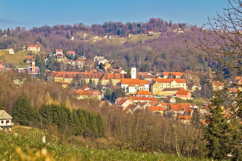 Varazdinske Toplice - stad för termiska vårar arkivbild