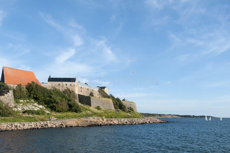 Varberg fortress. And the coastline. Varberg, Halland, Sweden royalty free stock image