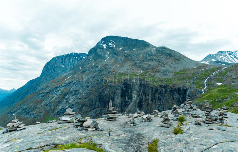 Vard stones in the mountain stock image