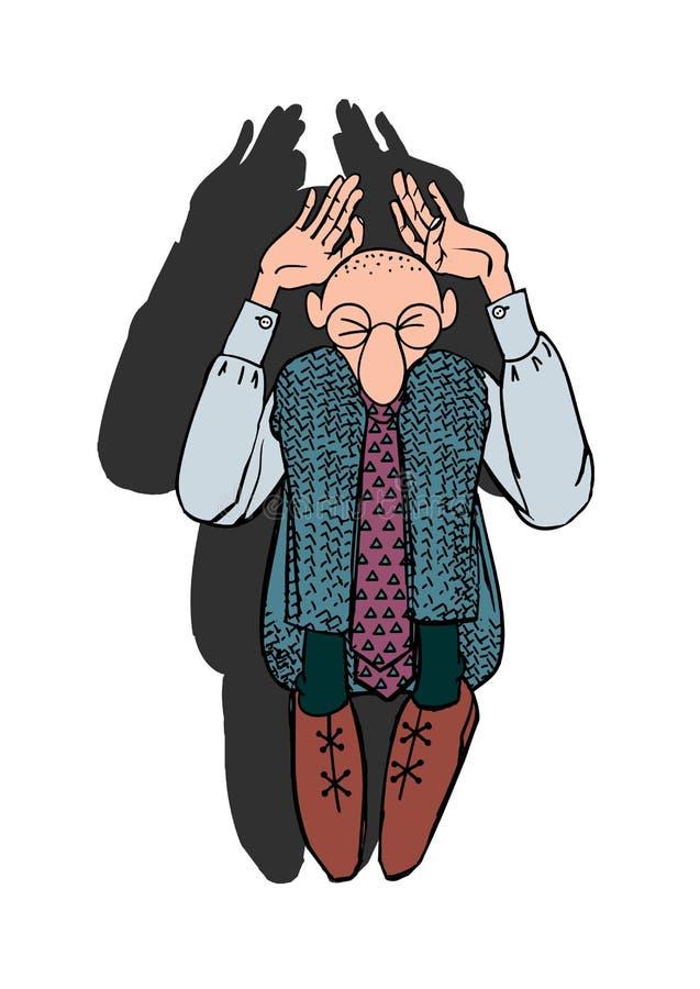 Vardagsliv av en kontorsarbetare stock illustrationer