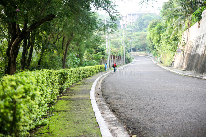 Vardagsliv av filippiner i Cebu stadsFilippinerna royaltyfria foton
