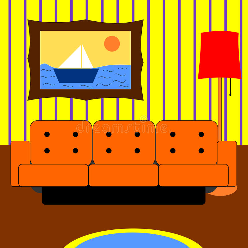 Vardagsrum stock illustrationer