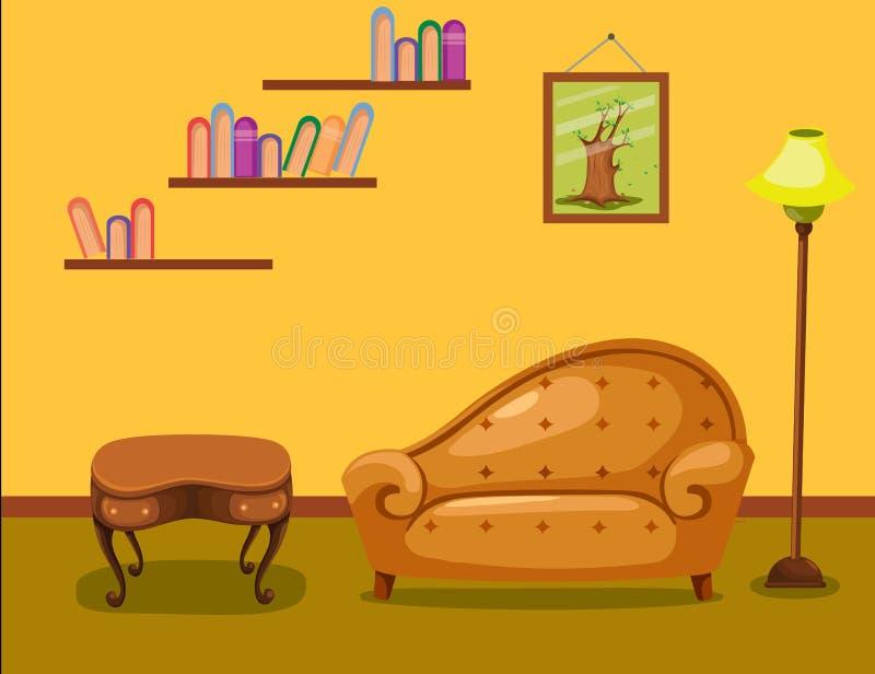 Vardagsrum vektor illustrationer