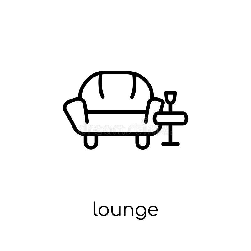 Vardagsrumsymbol från hotellsamling vektor illustrationer