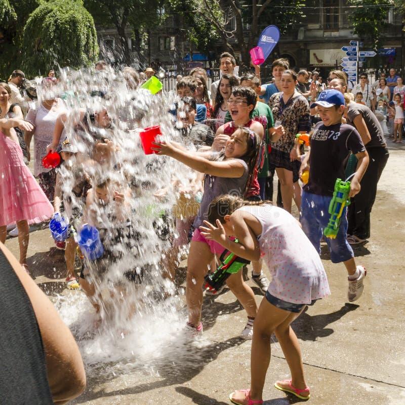 Vardavar wody festiwal zdjęcia stock