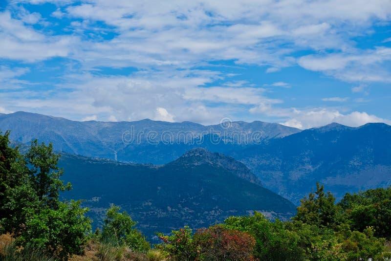 Vardousia山脉,中希腊 库存图片