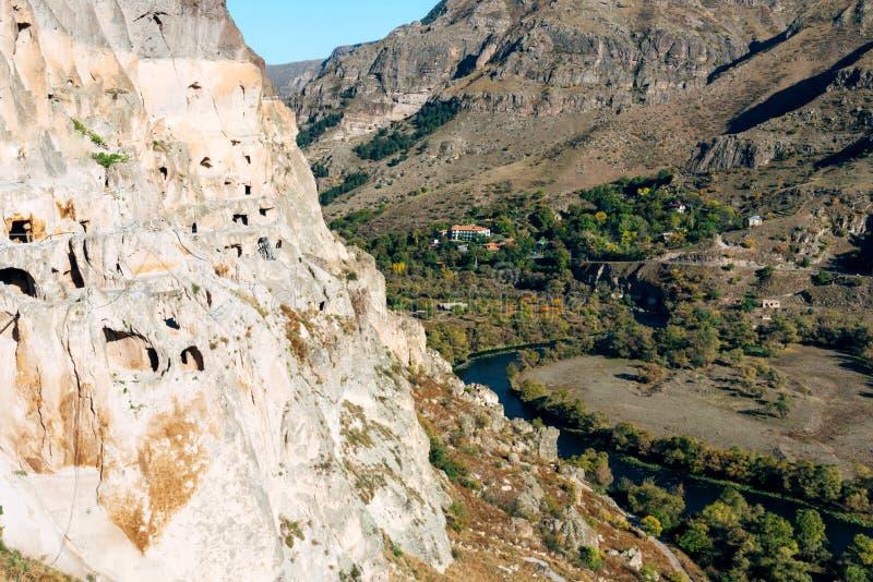 Vardzia ancient cave city-monastery, Georgia. royalty free stock photos