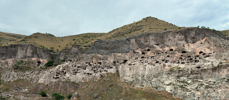 Vardzia, the cave monastery in Akhaltsikhe, Georgia stock photo