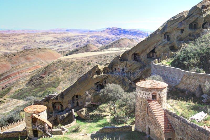 Download Vardzia - Géorgie photo stock. Image du montagnes, antique - 45356556